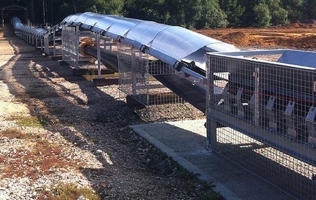 600m Field Conveyor - Onsite Installation - Ringwood